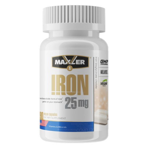 Maxler Iron 25mg Bisglycinate Chelate 90 капс