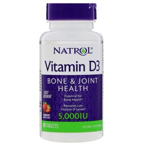 Natrol Vitamin D3 FD 5000ME 90 таб