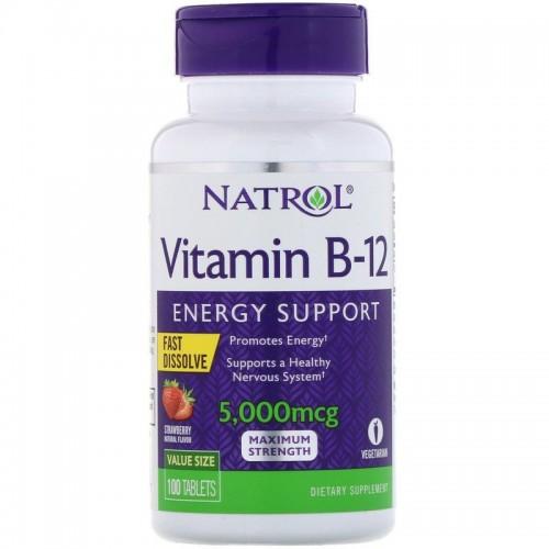 Natrol Vitamin B-12 FD 5000 мкг 100 таб