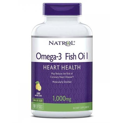 Natrol Omega-3 Fish Oil 1000 мг 150 капс