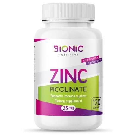 Bionic Zinc Picolinate 25mg 120 caps