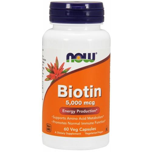 NOW Biotin 5000 мкг 60 капс