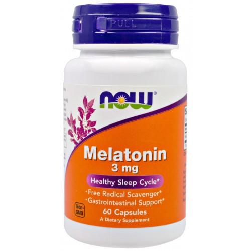 NOW Melatonin 3 мг 60 капс
