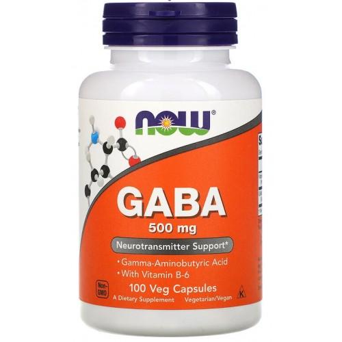 NOW GABA 500 мг 100 капс
