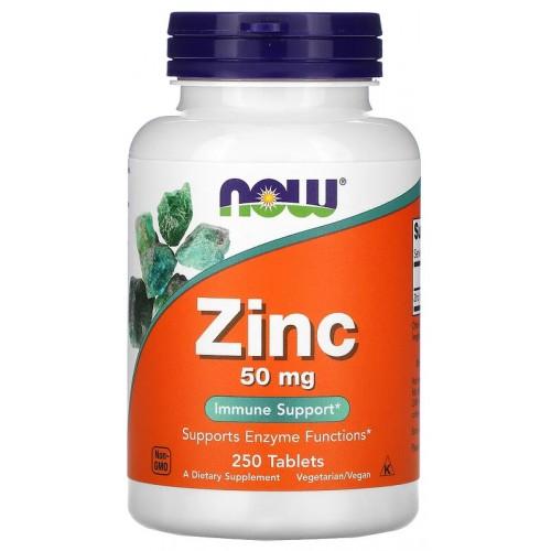 NOW Zinc Gluconate 50 мг 250 таб