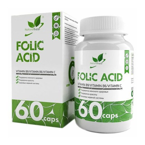 NaturalSupp Folic Acid 600mcg 60 caps