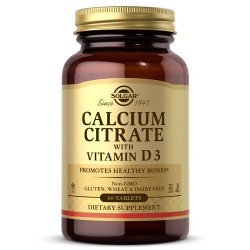 Solgar Calcium Citrate with Vitamin D3 60 таб