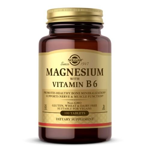 Solgar Magnesium with Vitamin B6 100 таб