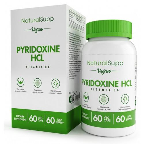 NaturalSupp Vitamin B6 Pyridoxine Hcl 60 Vegan Caps