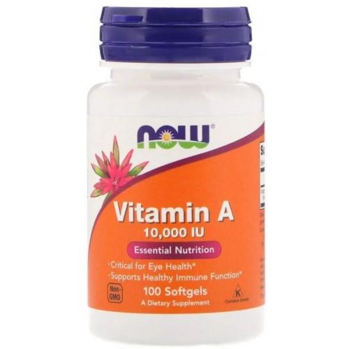 NOW Vitamin A 10000 IU 100 капс
