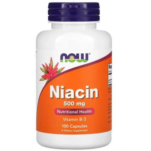 NOW Niacin 500 мг 100 капс