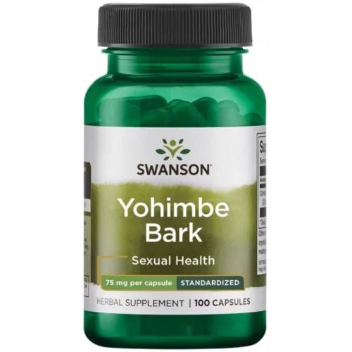 Swanson Yohimbe Bark 75 мг 100 капс