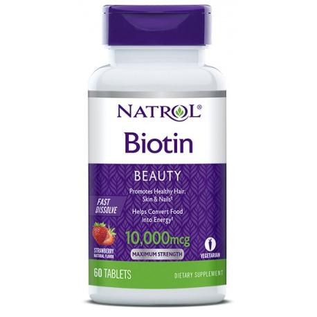 Natrol Biotin 10000 мкг 60 таб